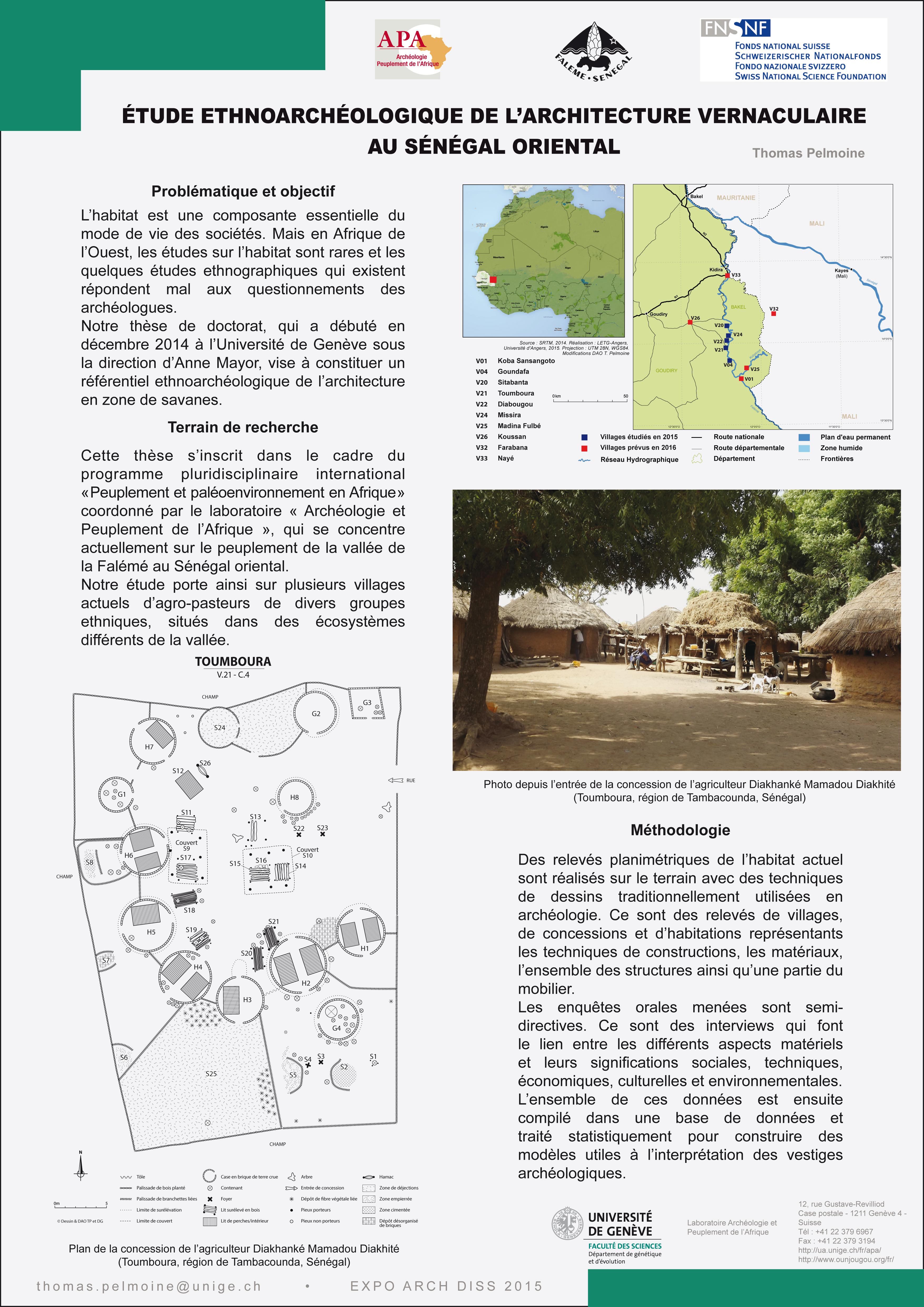 Thomas PELMOINE: Etude ethnoarchéologique de l'architecture vernaculaire au Sénégal oriental.