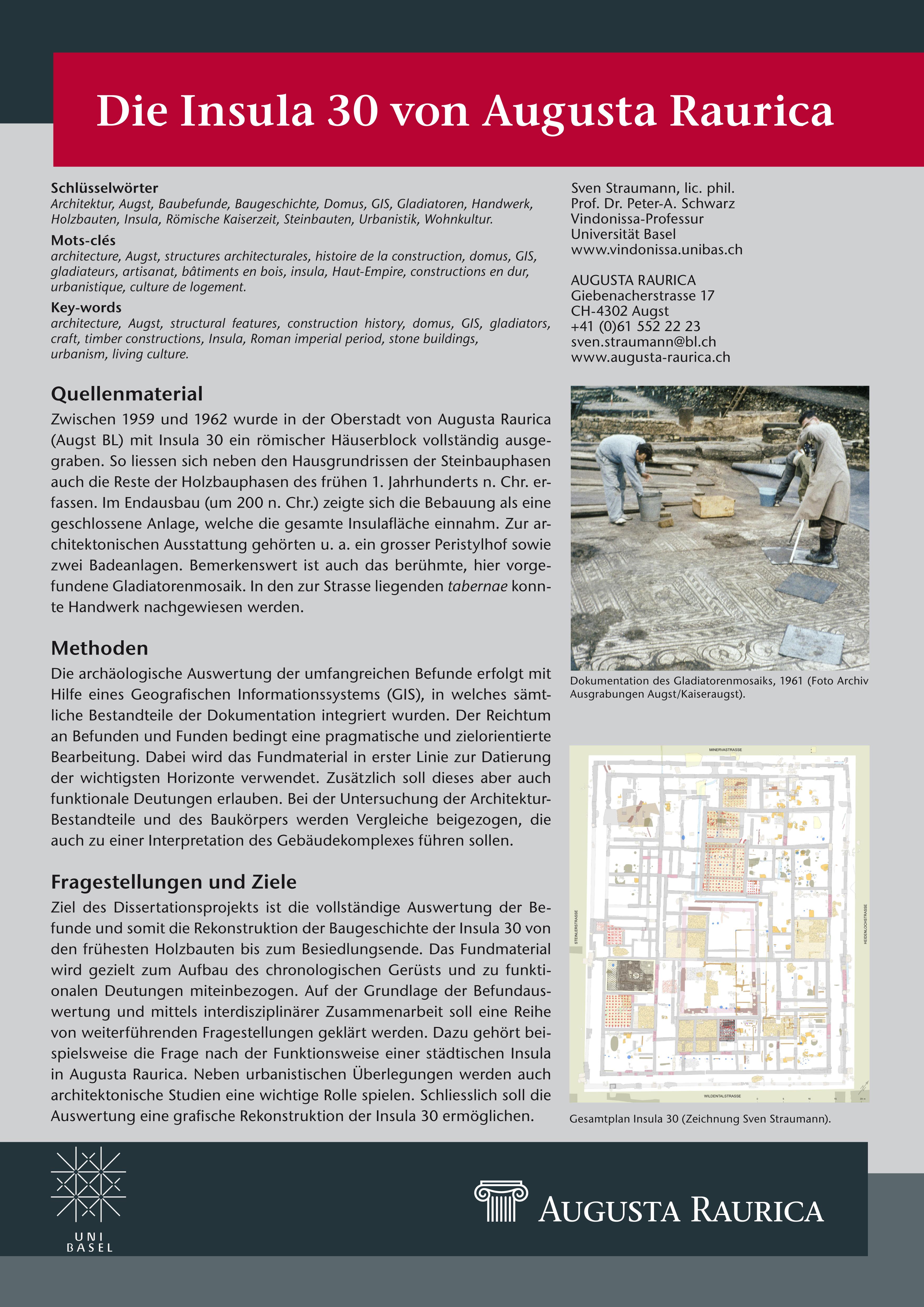 Sven STRAUMANN: Die Insula 30 von Augusta Raurica.