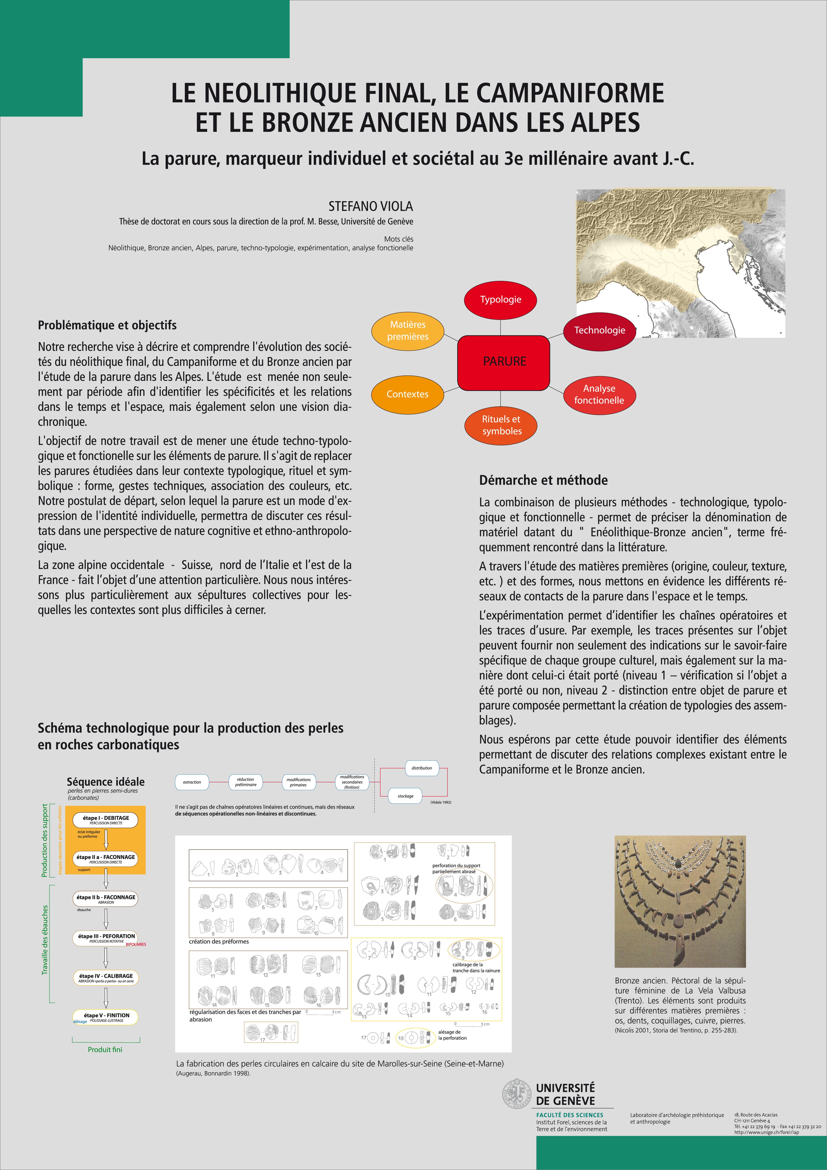 Stefano VIOLA: Le Neolithique final, le Campaniforme et le Bronze ancien dans les Alpes. La parure, marqueur individuel et sociétal au 3e millénaire avant J.-C.